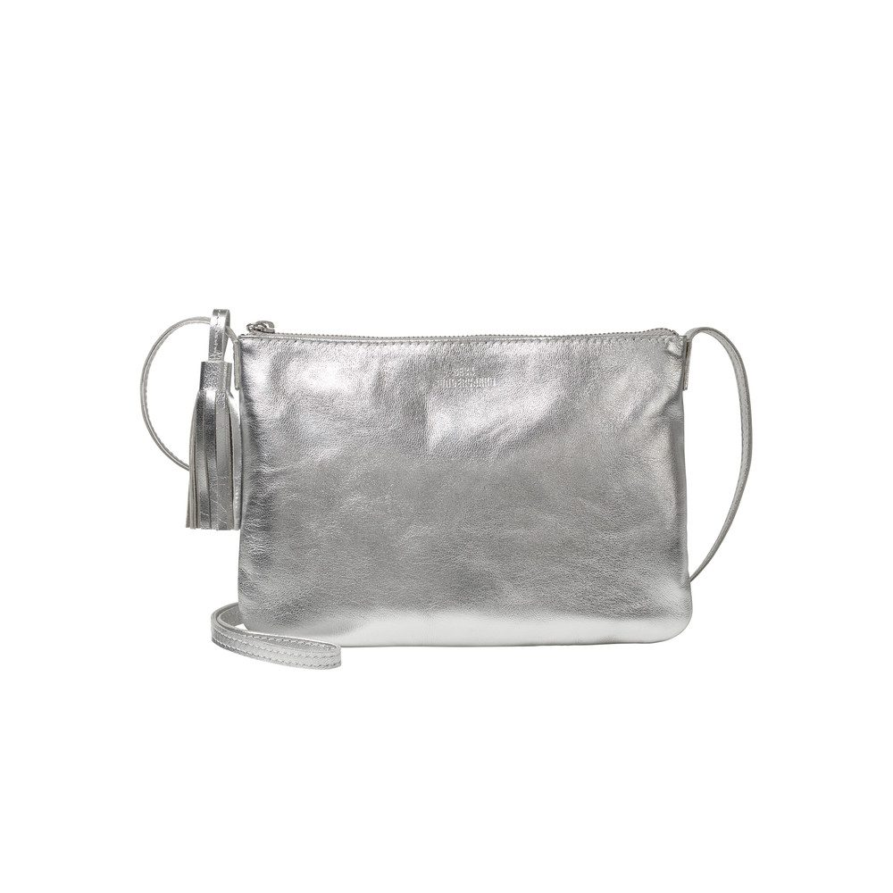 Lymbo Glitz Leather Bag - Silver Grey
