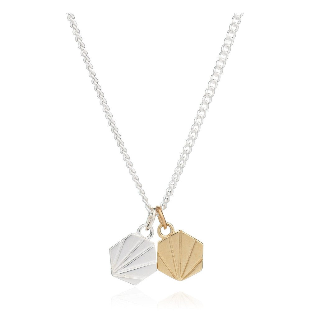 Good Vibes Hexagon Necklace - Serenity