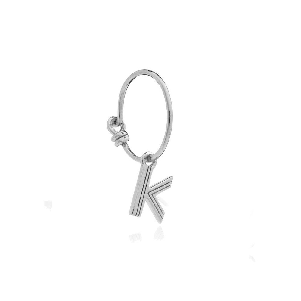 This is Me Silver Mini Hoop Earring - Letter K