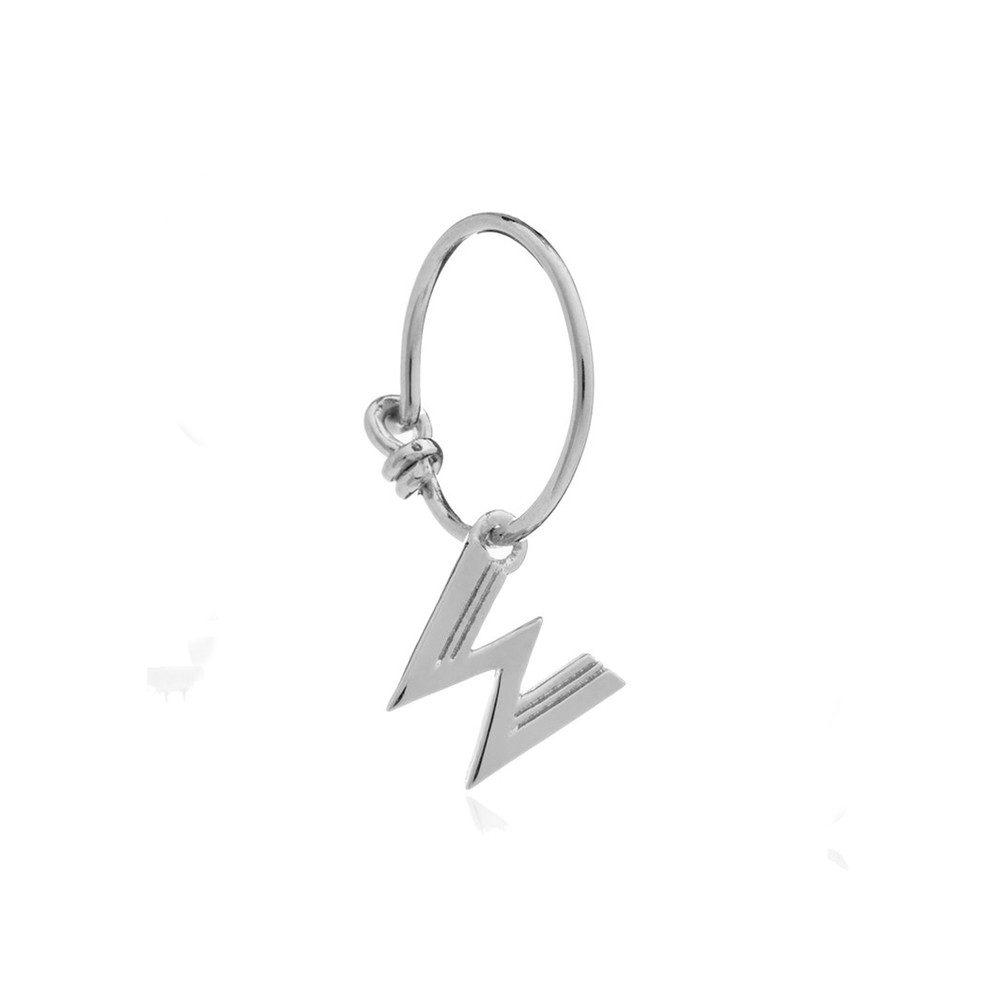 This is Me Silver Mini Hoop Earring - Letter W
