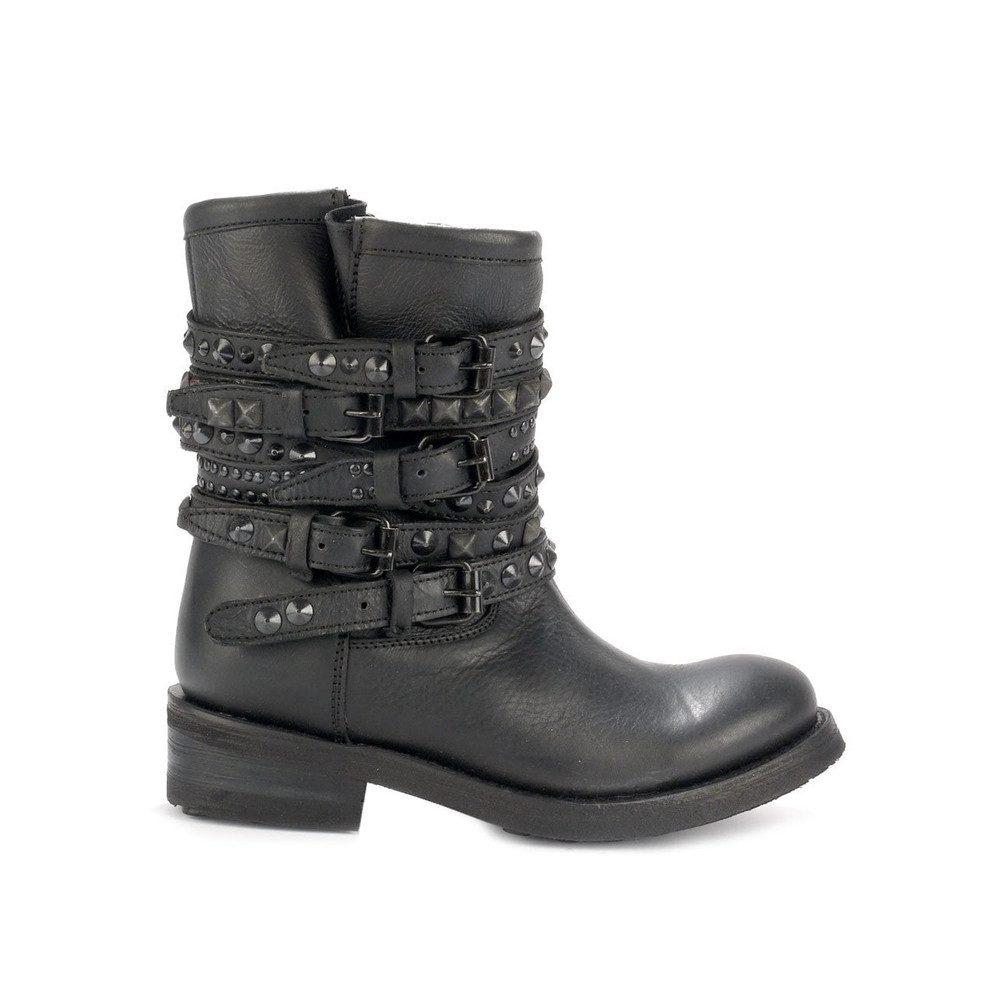 Tempt Biker Boots - Black