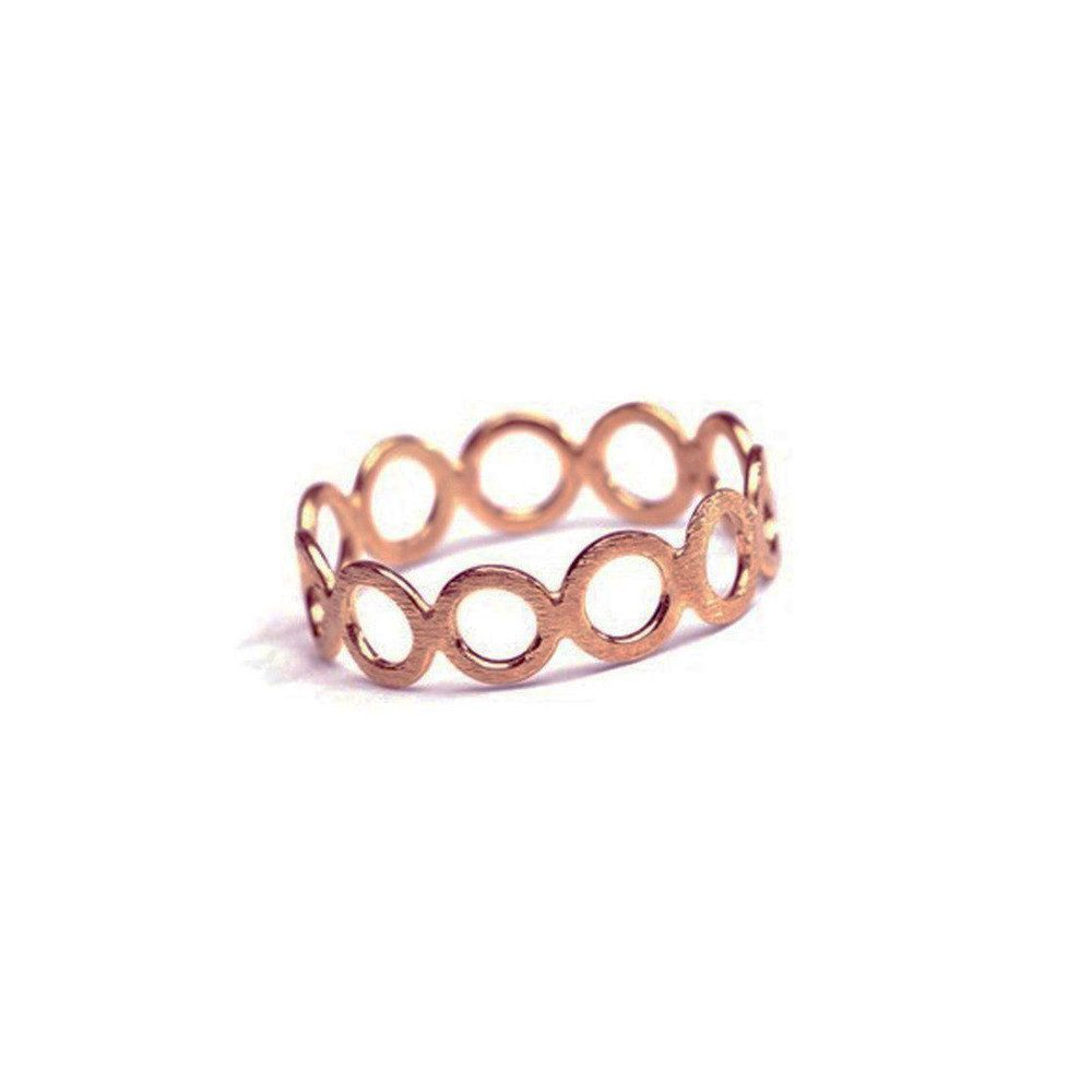 CIRCLE RING - ROSEGOLD