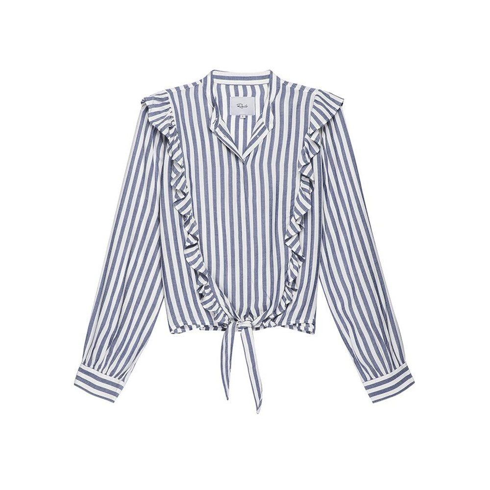 Piper Shirt - Ocean White Stripe