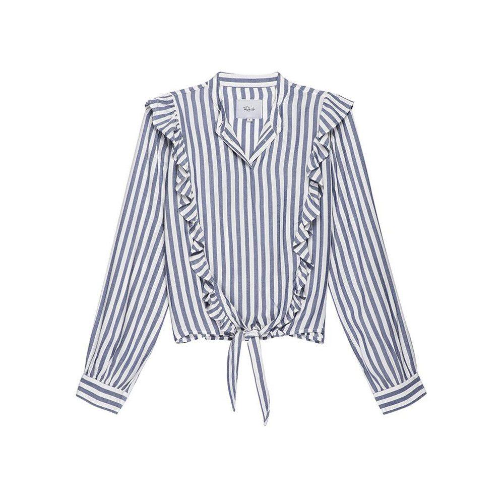 Piper Shirt - Ocean White Stripe