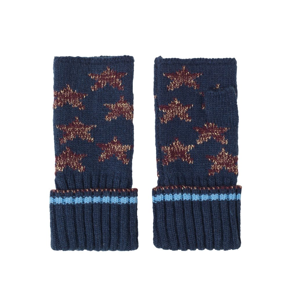 Ember Lurex Star Gloves - Classic Navy