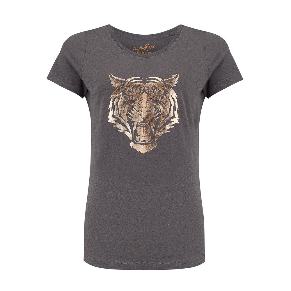 Lion Tee - Grey & Rose Gold