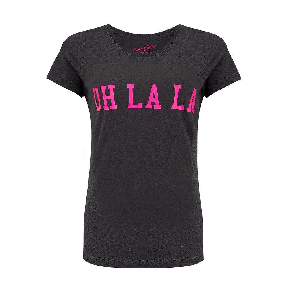 Oh La La Tee - Black & Pink