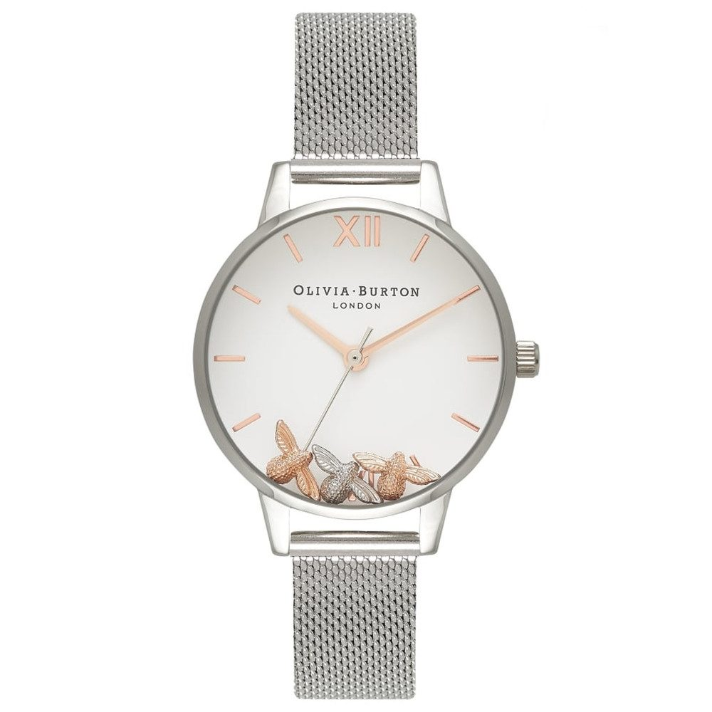 Busy Bee's Mesh Watch - Silver