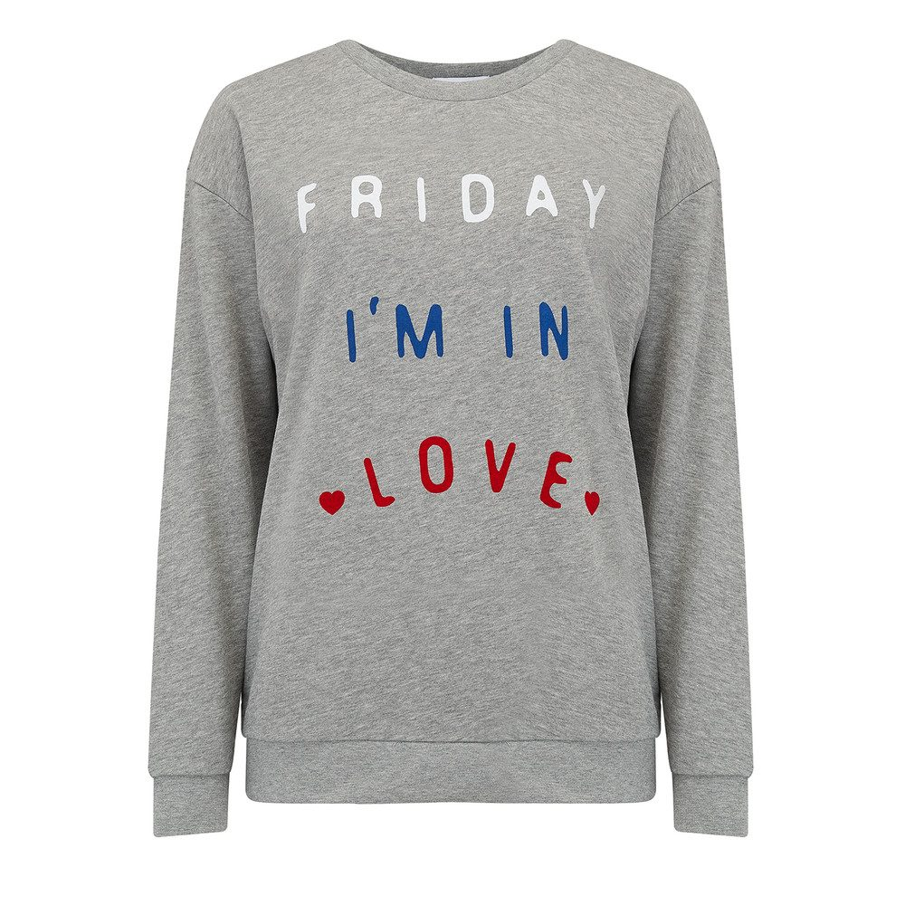 Alexa Friday I'm In Love Sweater - Heather Grey