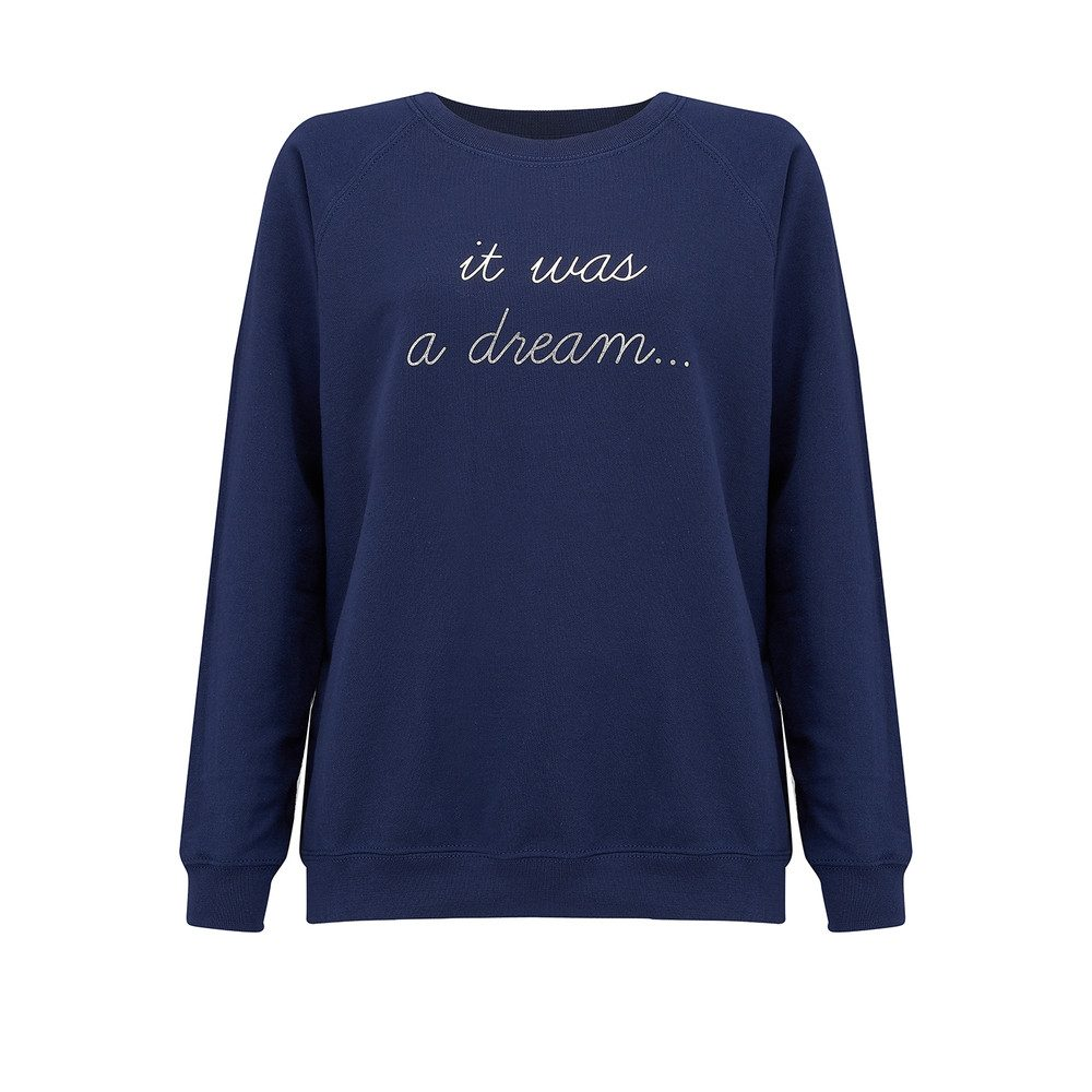 It Was A Dream Sweater - Navy & Silver