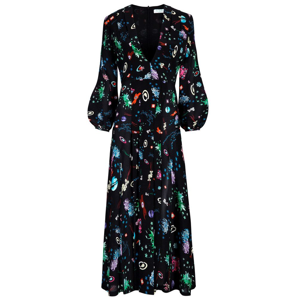 Camellia Dress - Space Age Floral