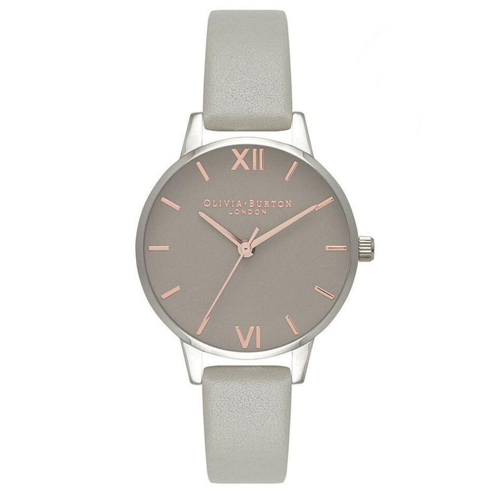 Midi Grey Dial Watch - Grey, Rose Gold & Silver