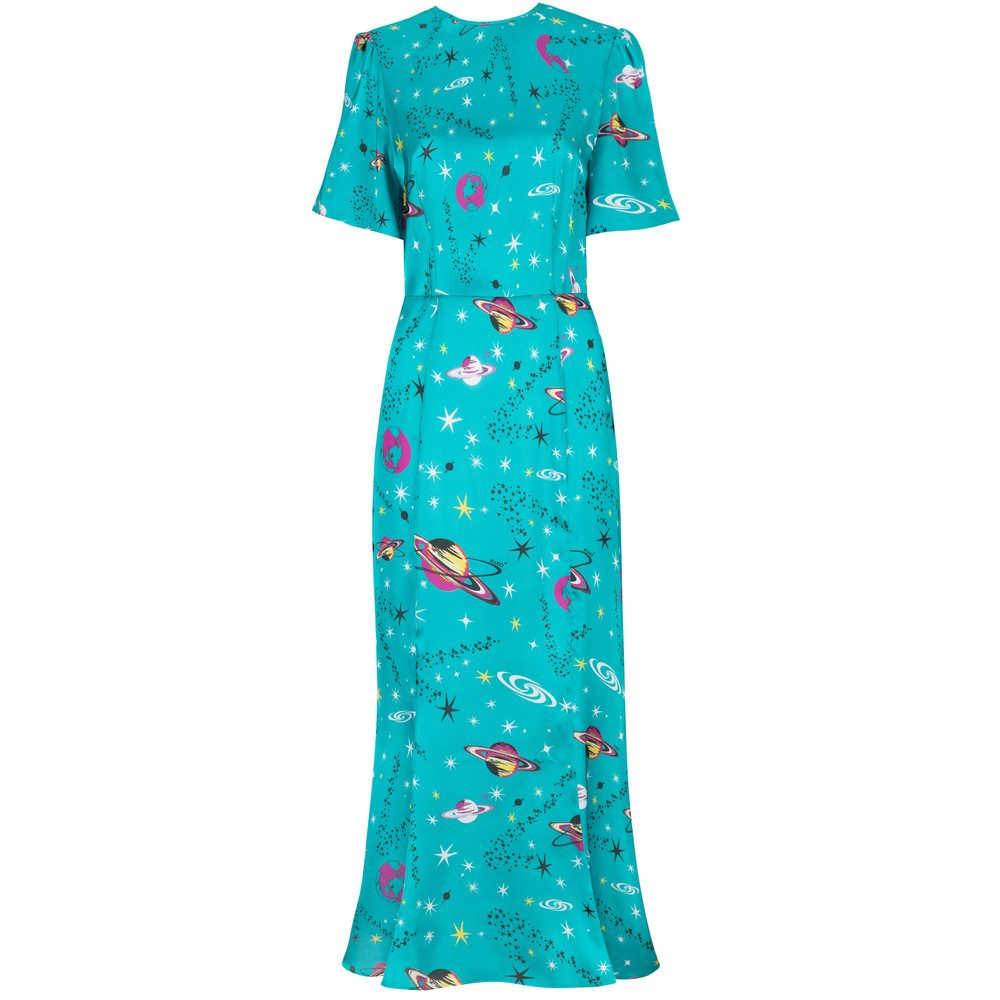 Joanne Midi Dress - Teal Pluto