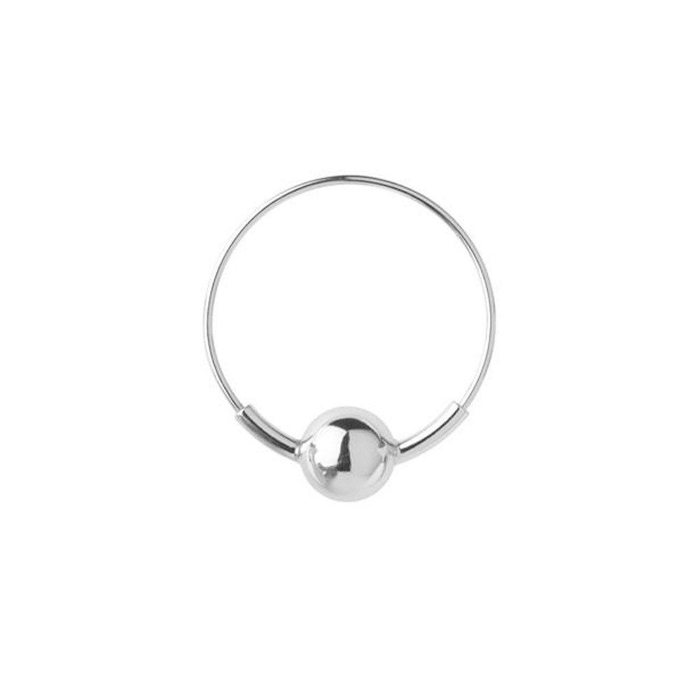 Hoop 8 Earring - Silver