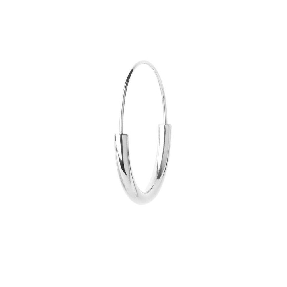 Serendipity Medium Hoop - Silver