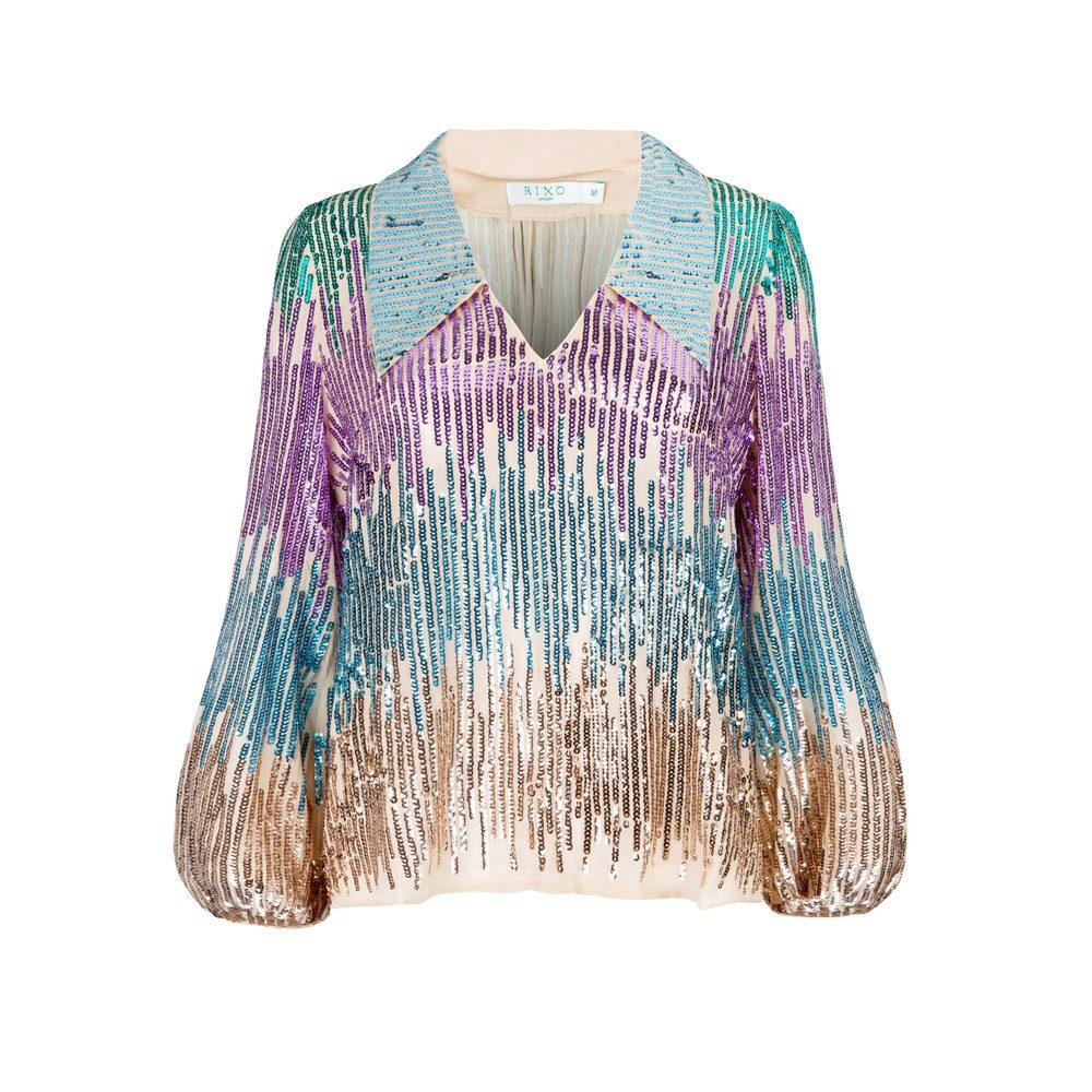 Lyla Sequin Blouse - Multi