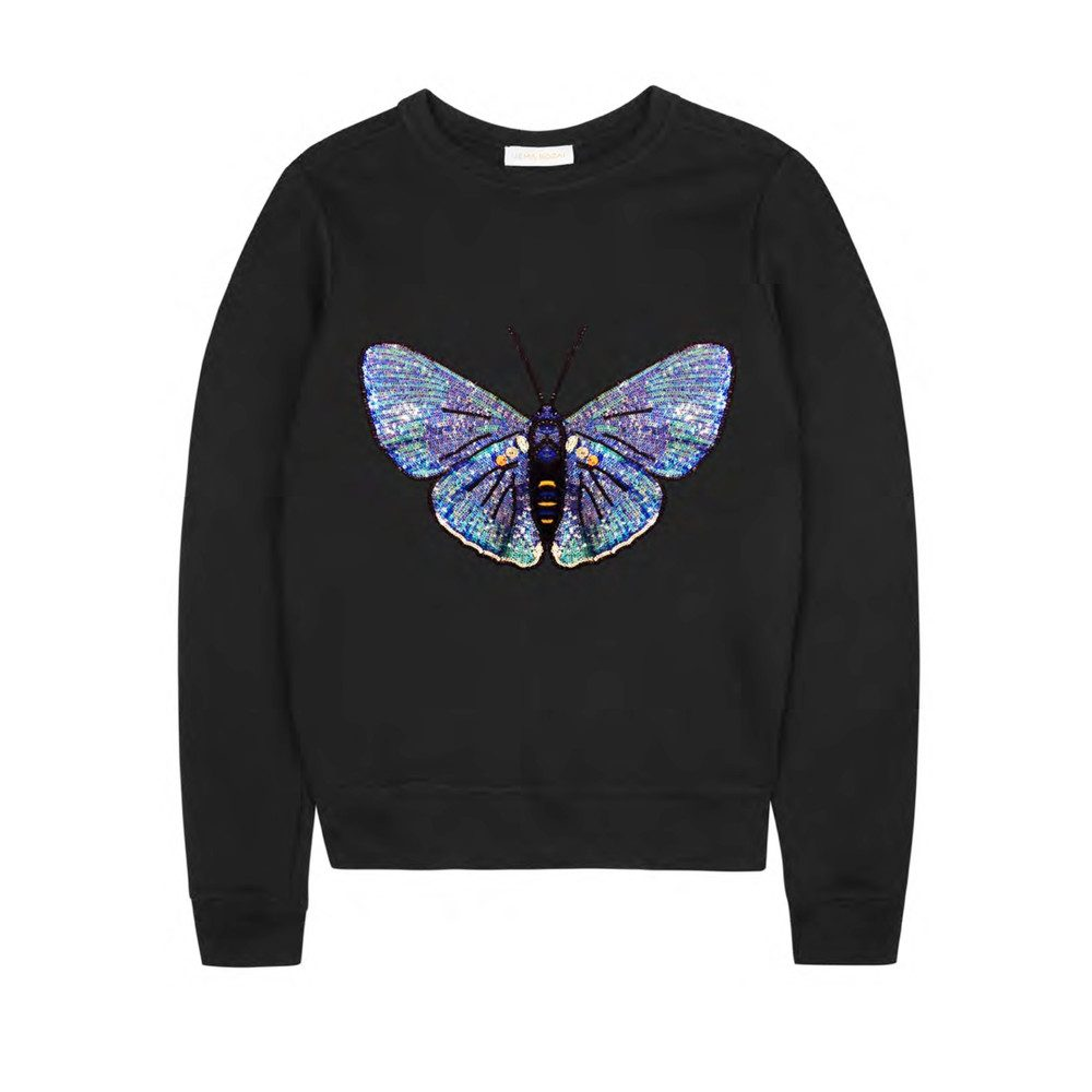 Claudia Embellished Sweatshirt - Black