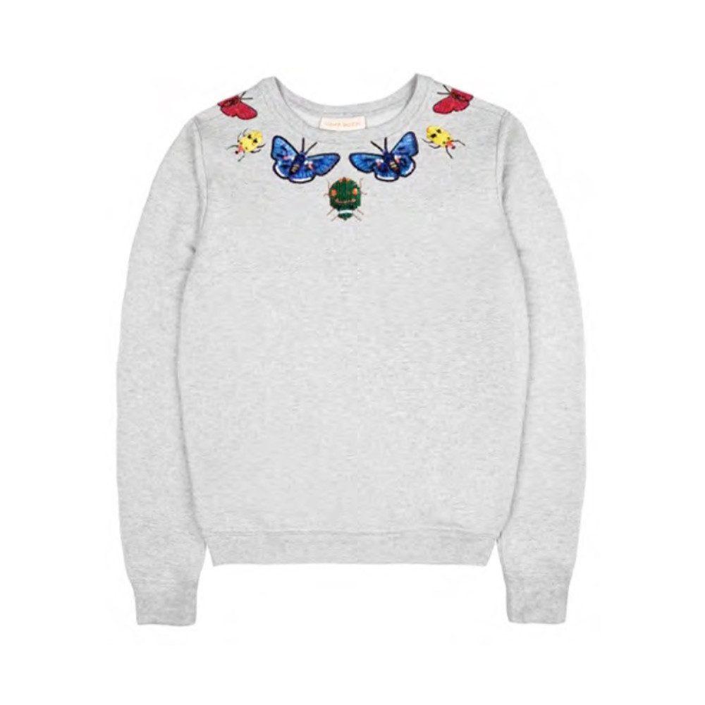 Helena Embellished Sweatshirt - Grey Marl
