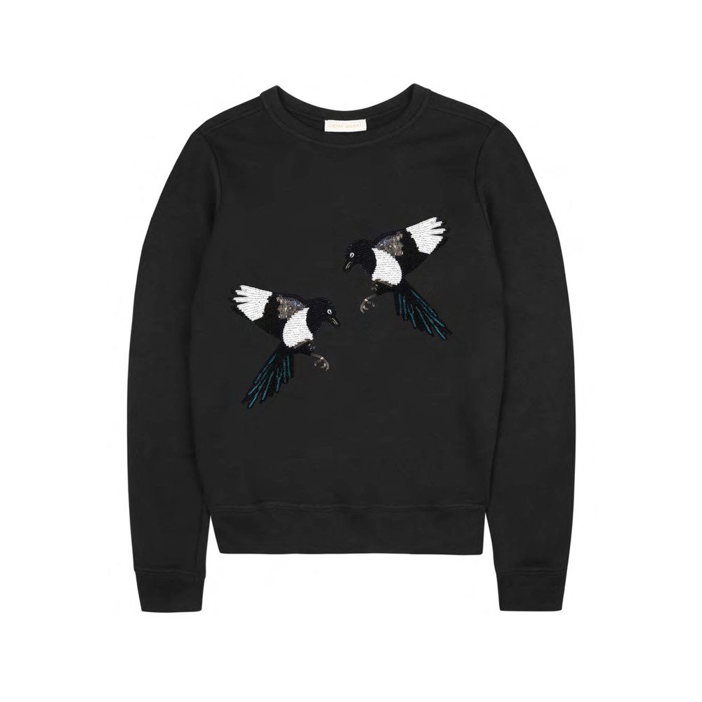 Winona Embellished Sweatshirt - Black