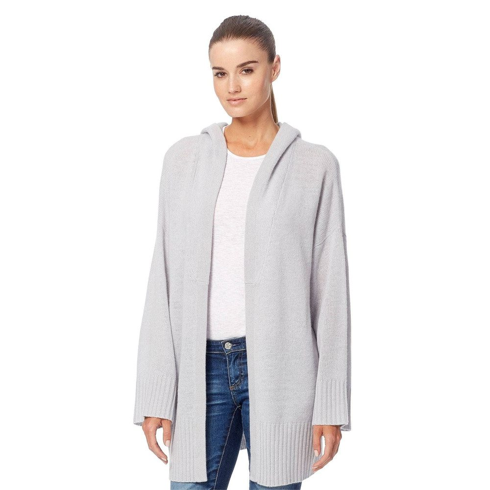 Erin Cashmere Hooded Cardigan - Dove