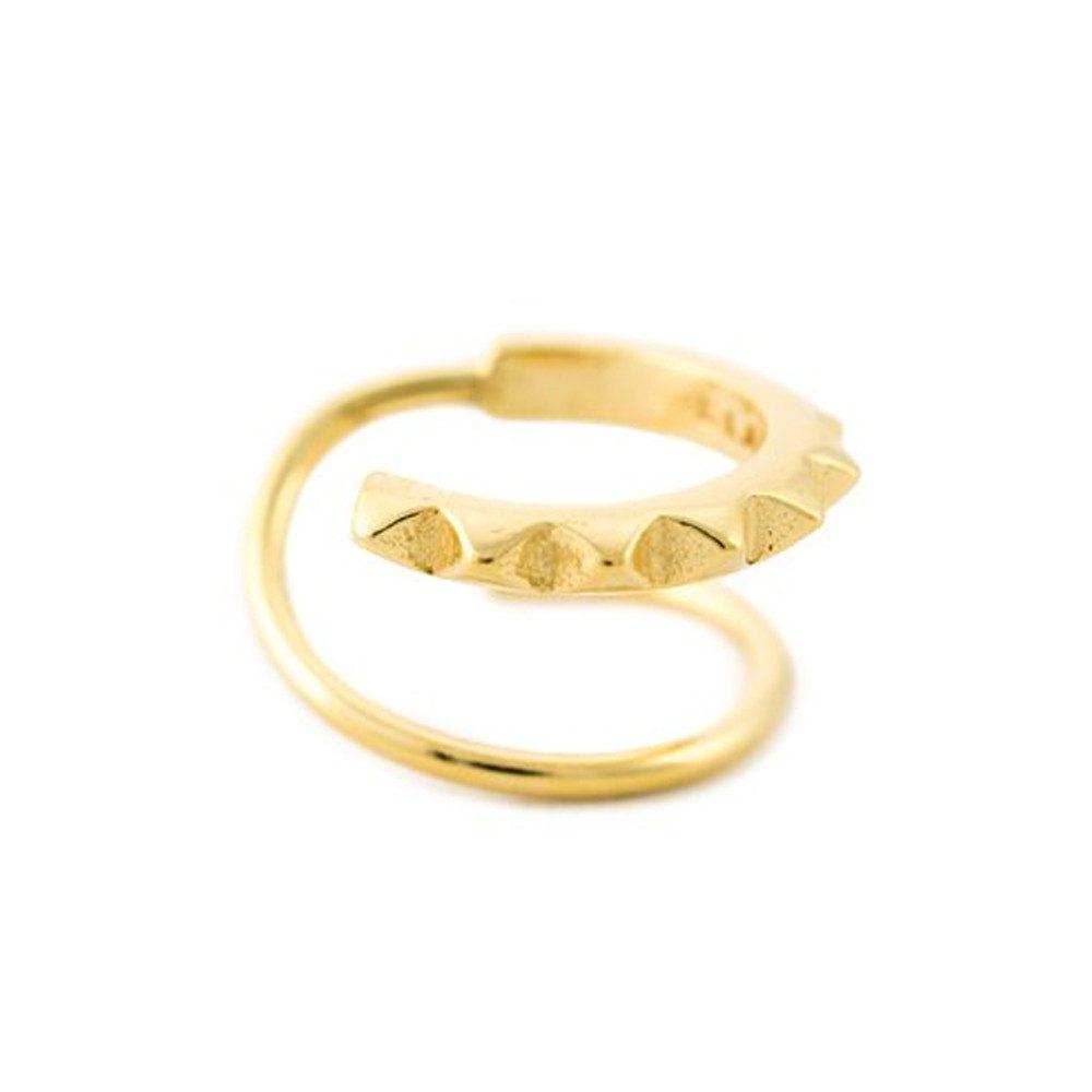 Klaxon Twirl Earring - Gold