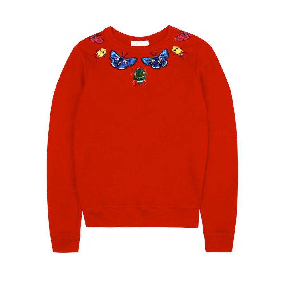 Helena Embellished Sweatshirt - Scarlet