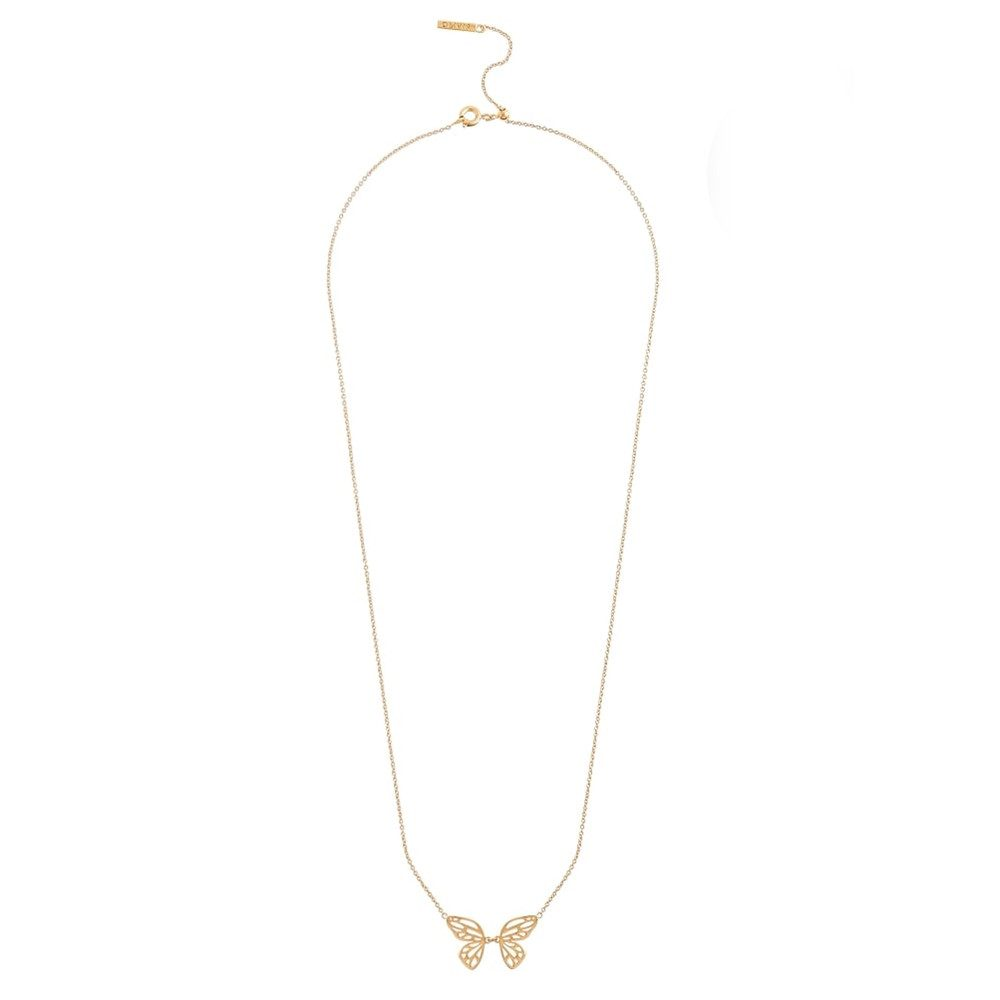 Butterfly Wing Necklace - Gold