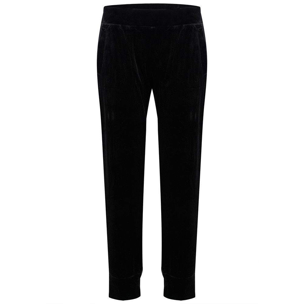 Velvet Jog Pants - Black