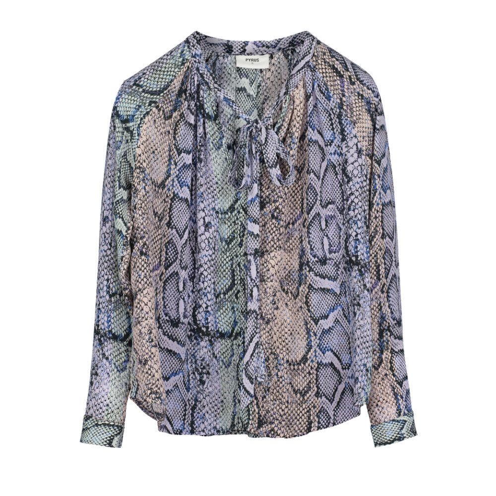 Annie Long Sleeve Blouse - Stripe Snake
