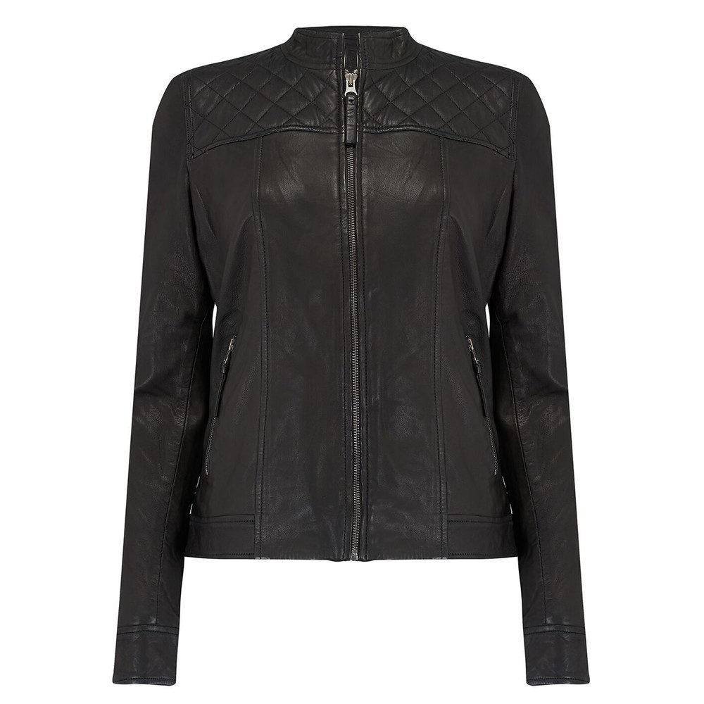 Andrea Leather Jacket - Black