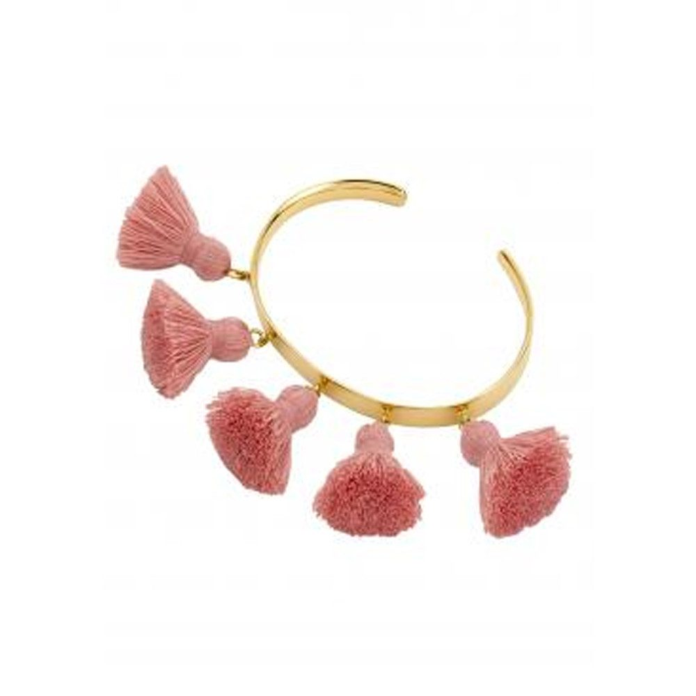 Raquel Tassel Bangle - Salmon