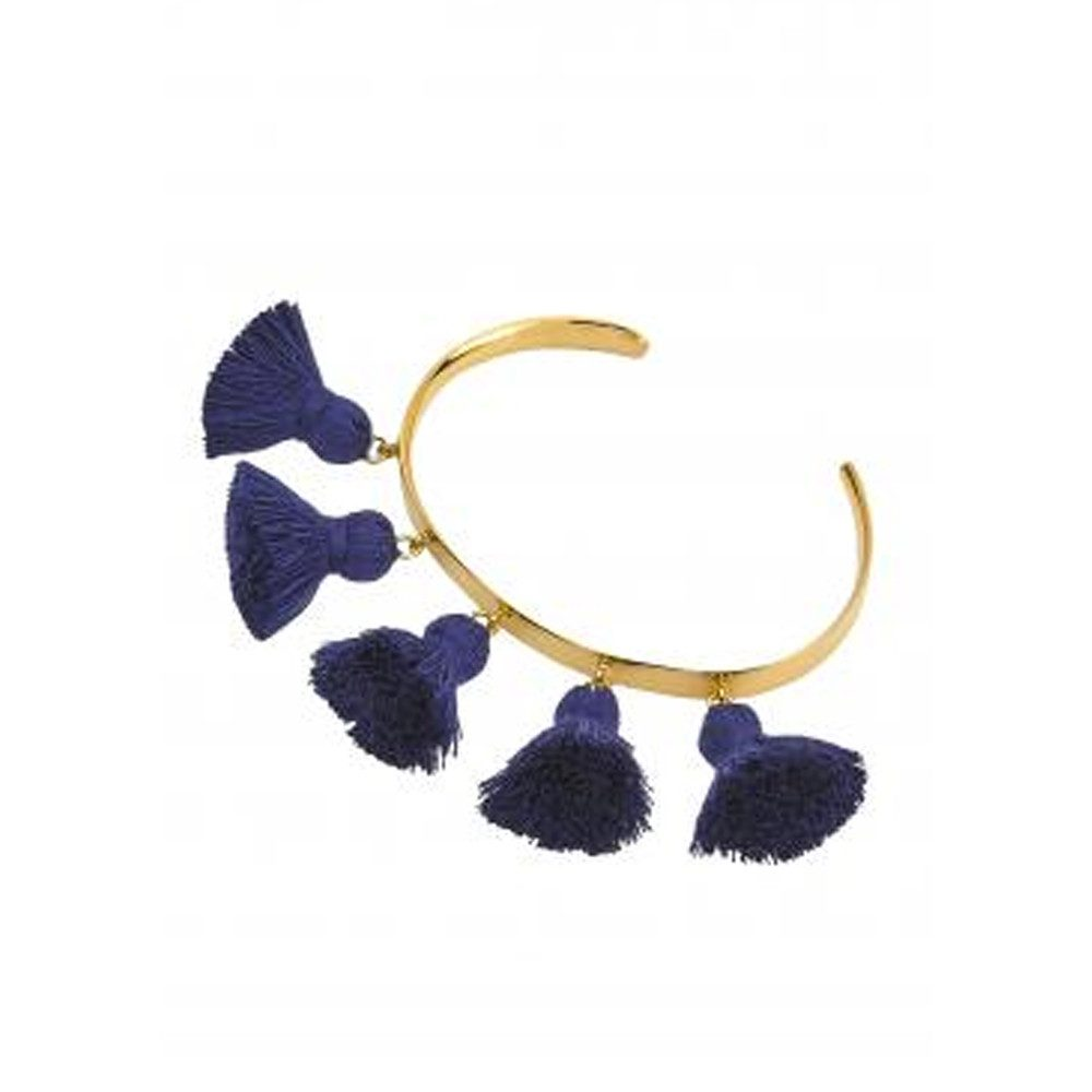 Raquel Tassel Bangle - Navy