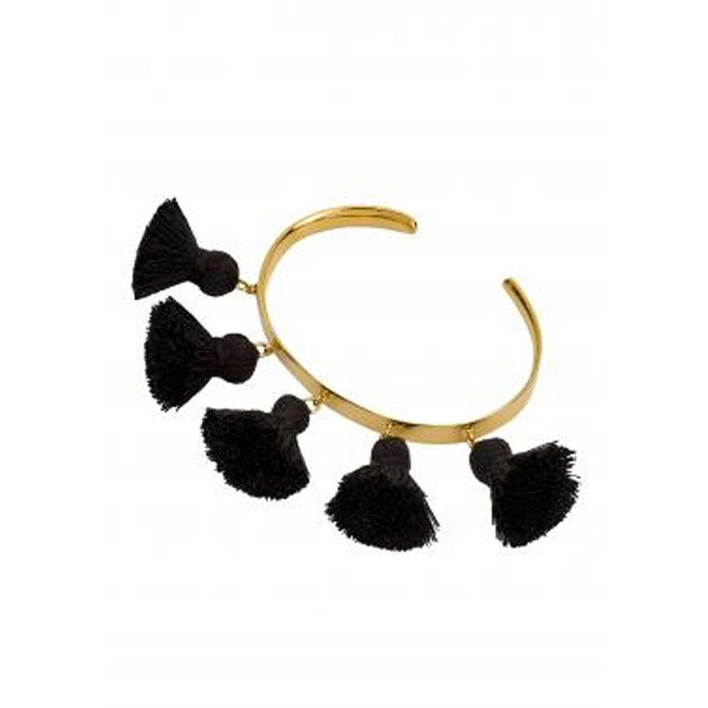 Raquel Tassel Bangle - Black