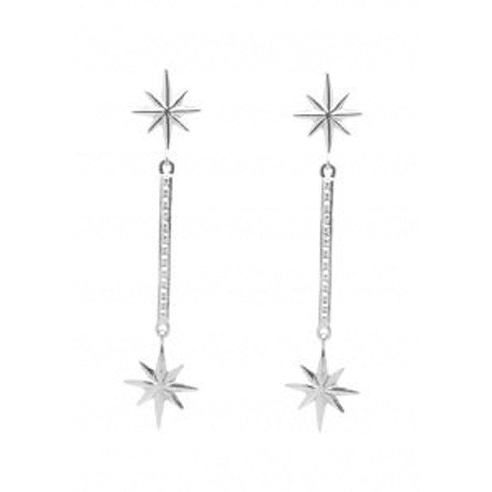 Colette Drop Earrings - Silver