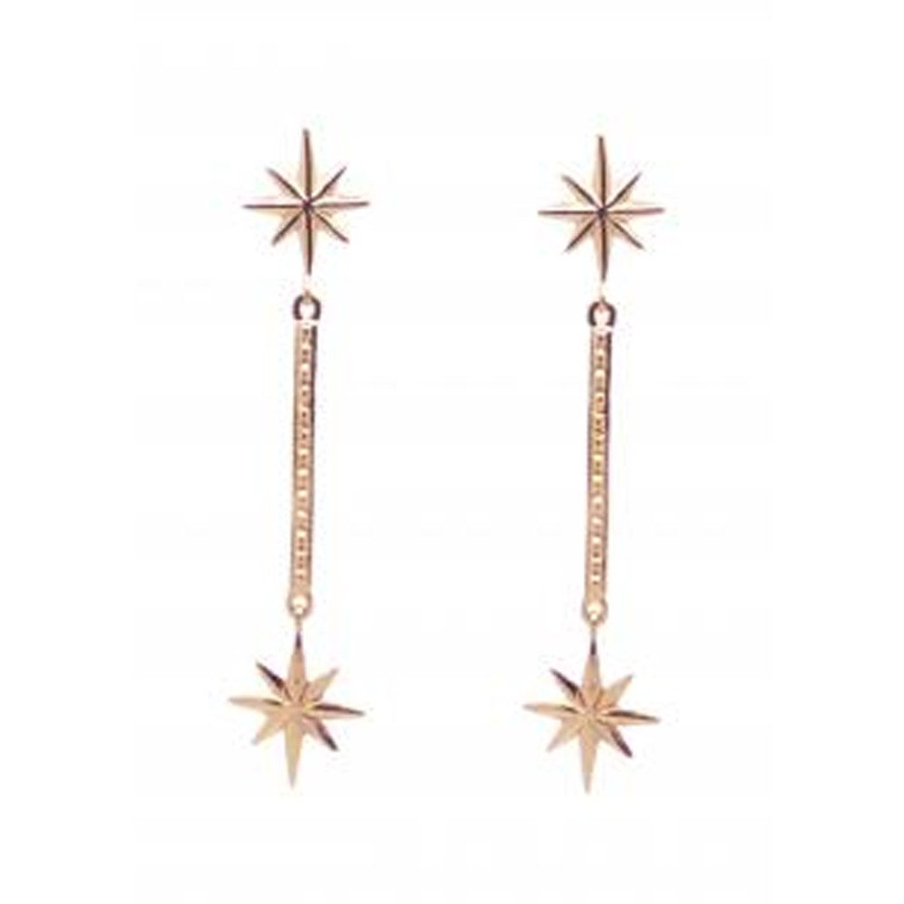 Colette Drop Earrings - Rose Gold