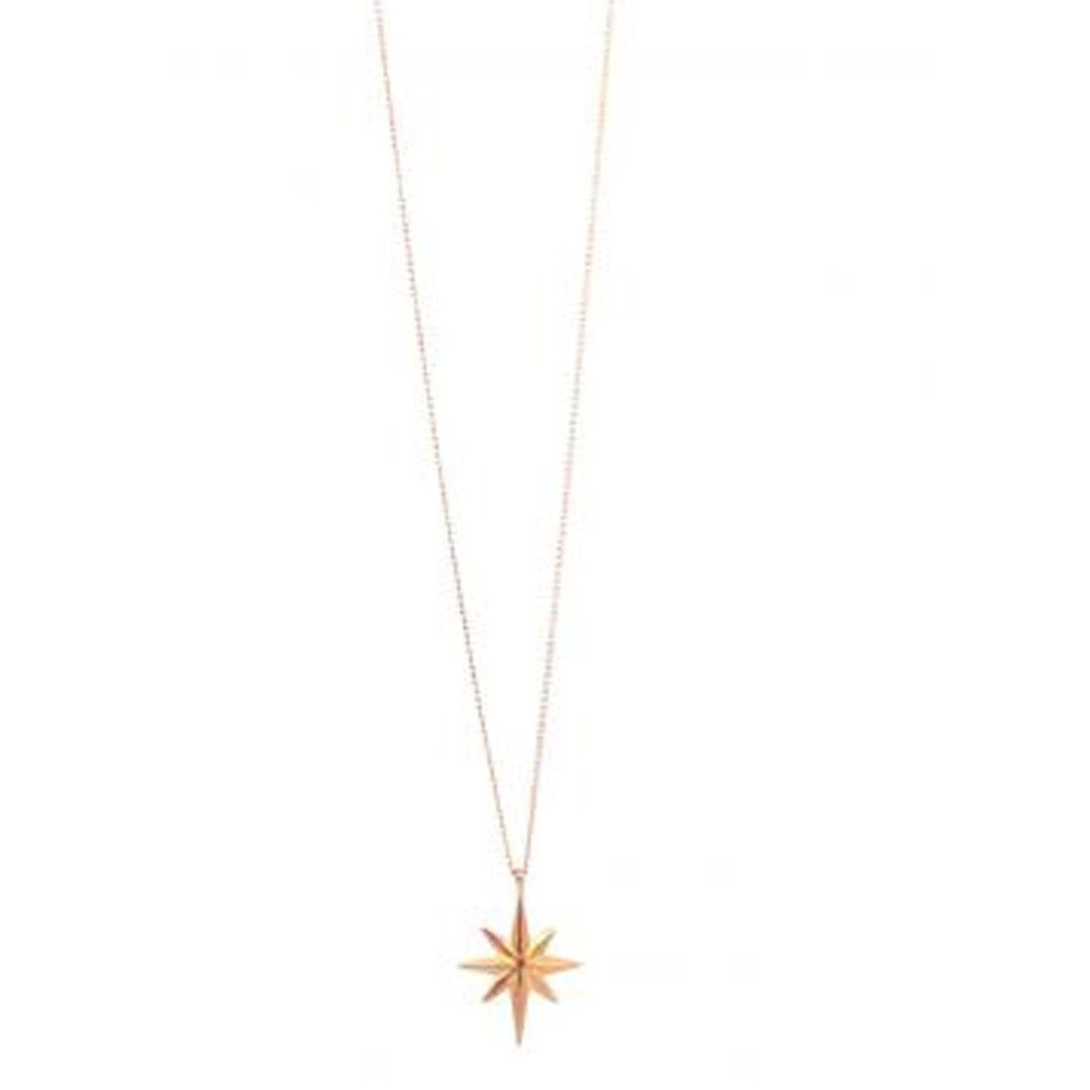 Colette Star Necklace - Rose Gold