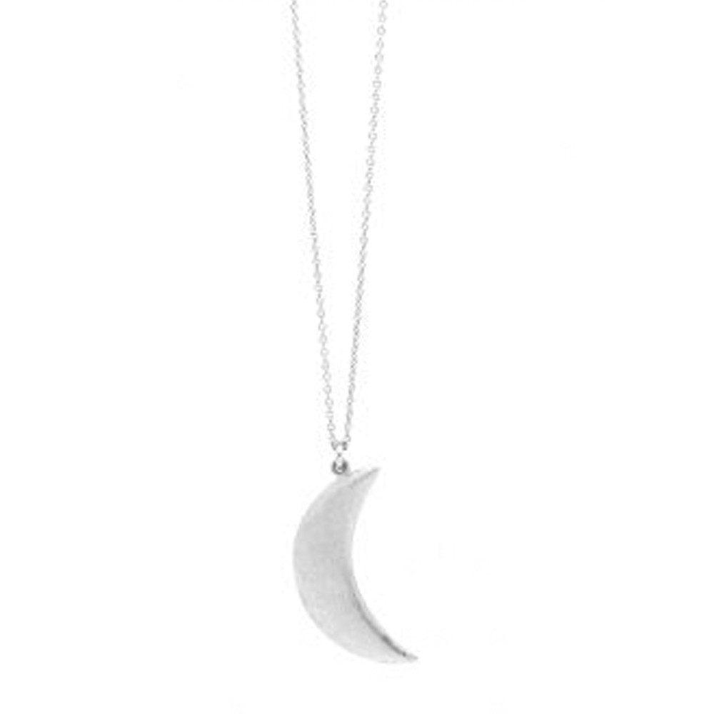 Agatha Cresent Necklace - Silver