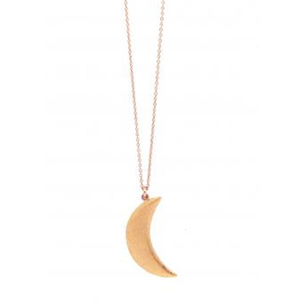 Agatha Cresent Necklace - Rose Gold