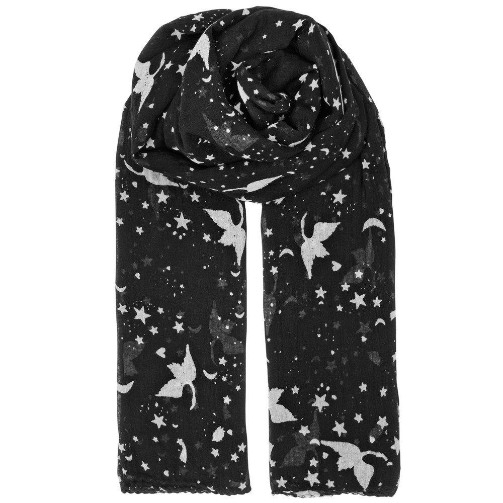 Hira Cotton Scarf - Black