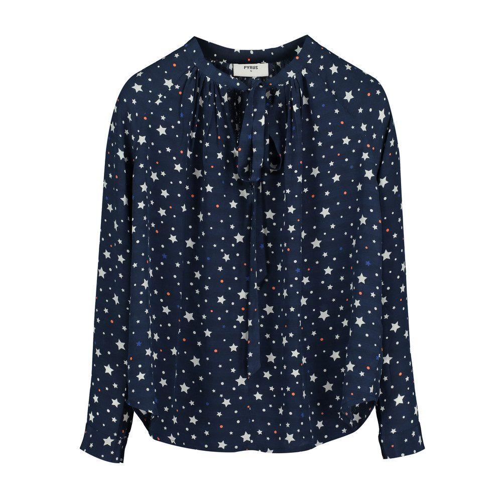 Annie Long Sleeve Blouse - Navy Stars