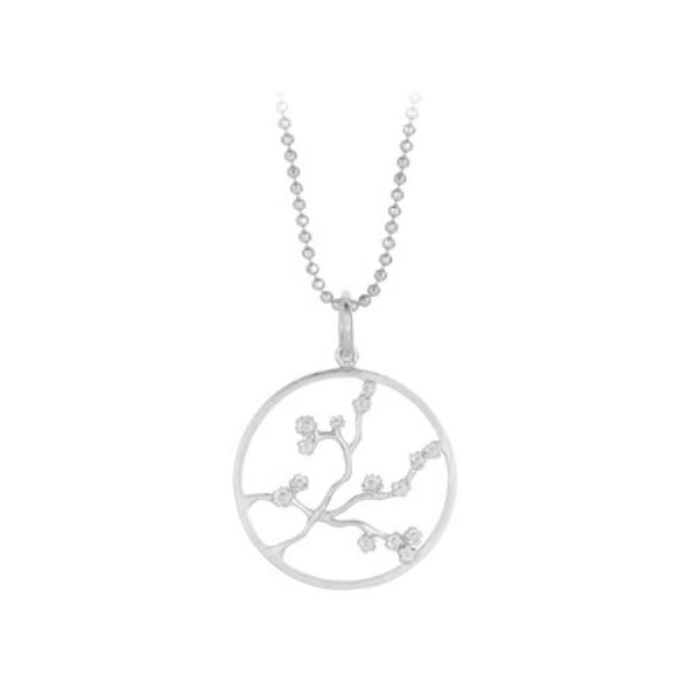 Sakura Necklace - Silver