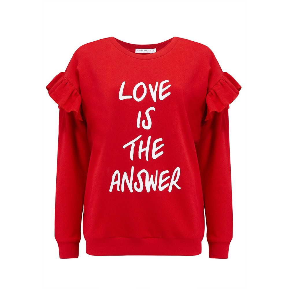 Alexa Love Is The Answer Sweatshirt - Red
