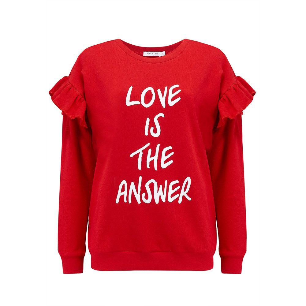 Alexa Love Is The Answer Sweatshirt - Red