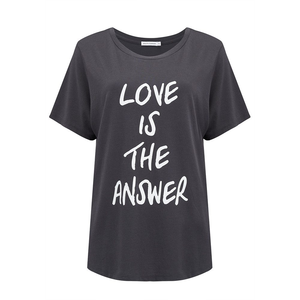 Lola Love Is The Answer Tee - Smoke Black
