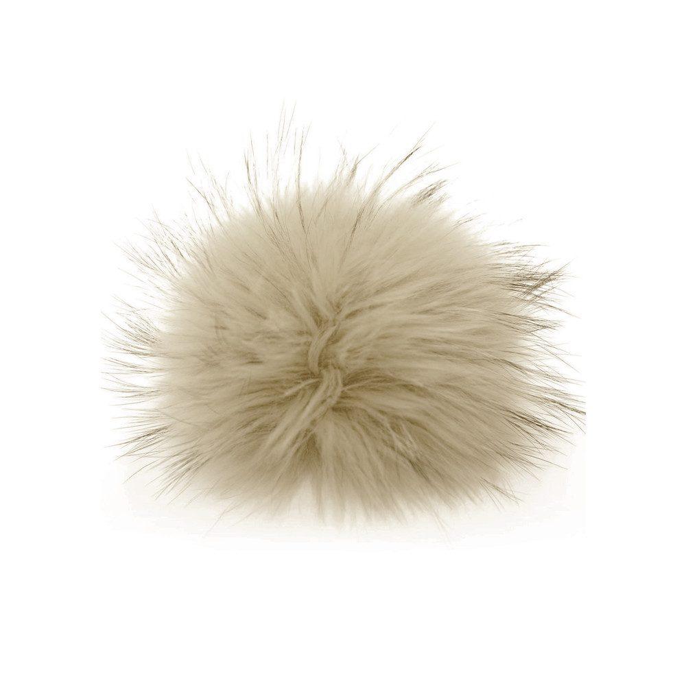 Big Faux Fur Bobbl - Pale Grey