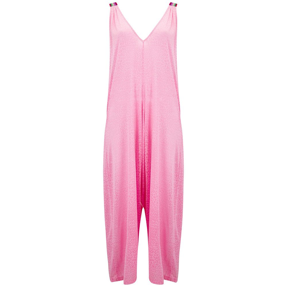 Cheetah Jumpsuit - Light Pink