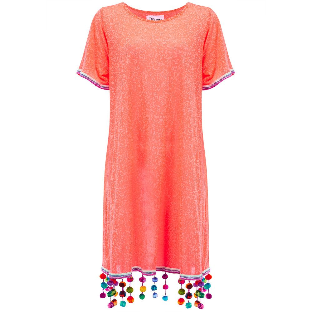 Pom Pom Chandelier Dress - Watermelon