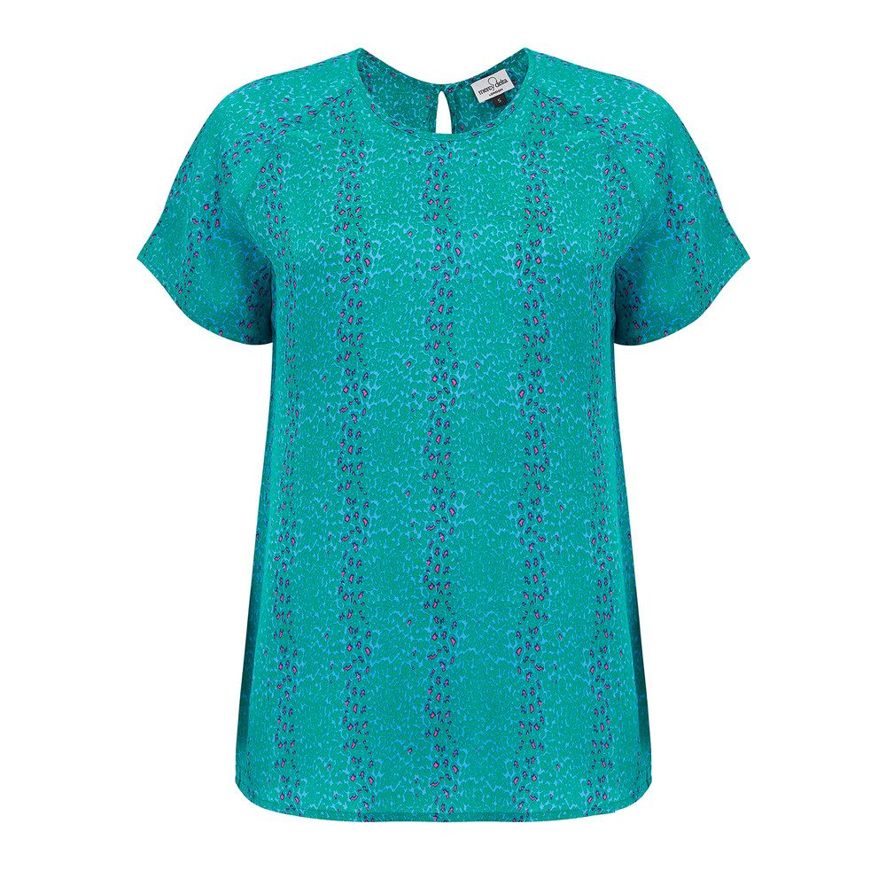 Syon Short Sleeve Top - Micro Safari Emerald