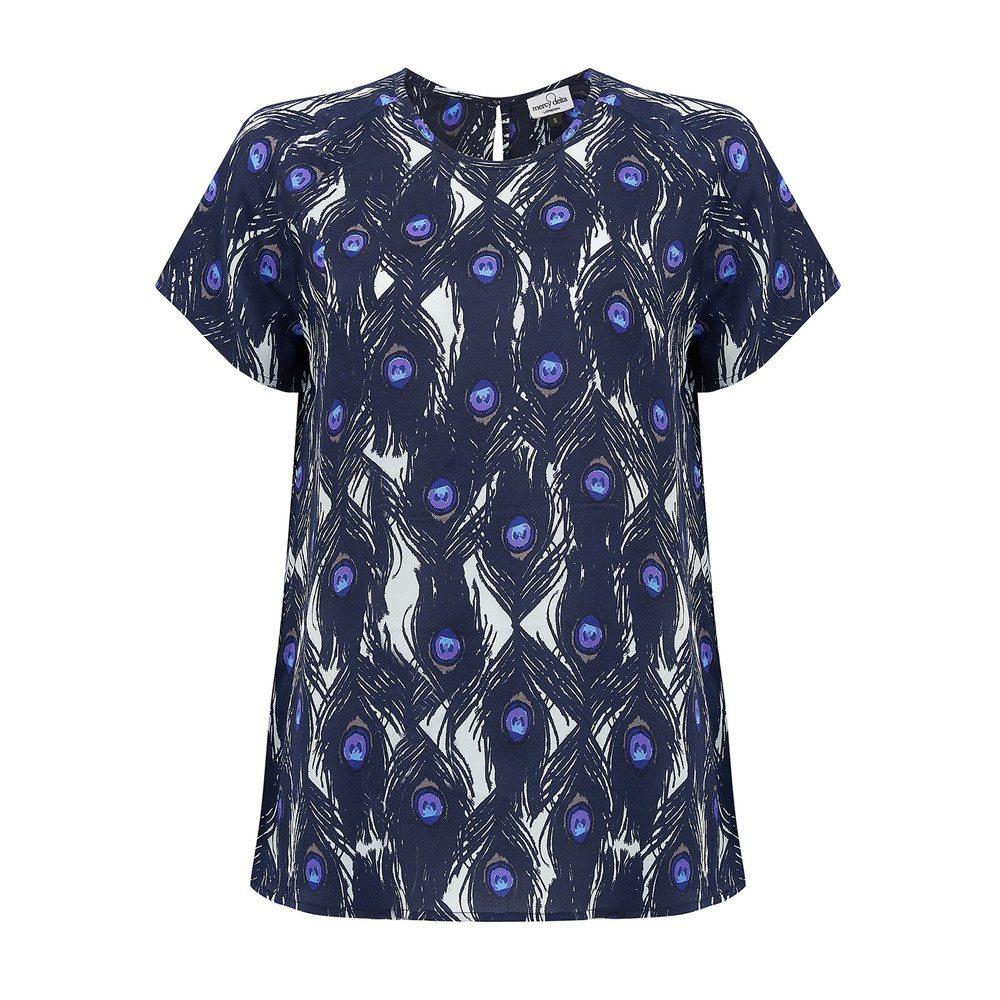 Syon Short Sleeve Top - Peacock Sapphire