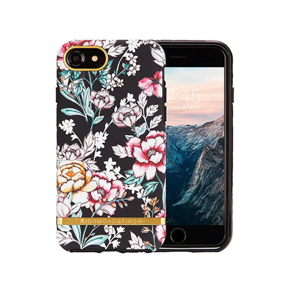 Standard iPhone 6/7/8 Case - Black Floral